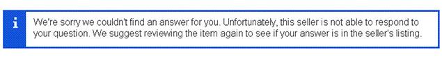 can't contact an ebay seller
